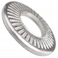 1000 AFNOR-Kontaktscheiben gezahnt für M5 - Form M - Edelstahl A2