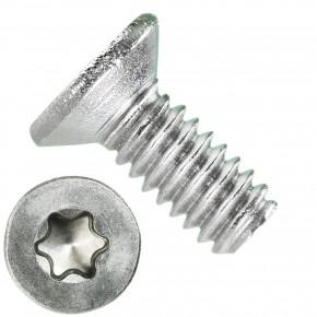 1000 Senkschrauben DIN 965, Edelstahl A4, Torx 6, Senkkopf 2 x 5 mm