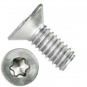 1000 Senkschrauben DIN 965, Edelstahl A4, Torx 8, Senkkopf 2,5 x 6 mm