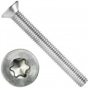 500 Senkschrauben DIN 965, Edelstahl A4, Torx 10, Senkkopf 3 x 25 mm