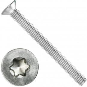 500 Senkschrauben DIN 965, Edelstahl A4, Torx 10, Senkkopf 3 x 30 mm