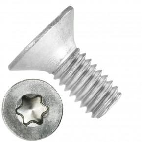 500 Senkschrauben DIN 965, Edelstahl A4, Torx 20, Senkkopf 4 x 10 mm