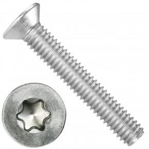 500 Senkschrauben DIN 965, Edelstahl A4, Torx 20 Senkkopf 4 x 25 mm