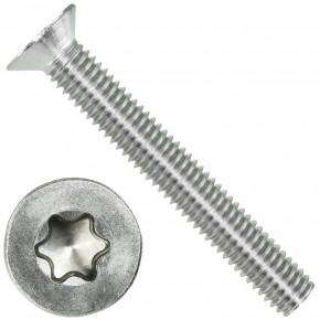200 Senkschrauben DIN 965, Edelstahl A4, Torx 30, Senkkopf 6 x 45 mm