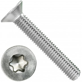 100 Senkschrauben DIN 965, Edelstahl A4, Torx 45, Senkkopf 8 x 50 mm