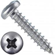 1000 Blechschrauben DIN 7981 - 2,9x13 mm - Linsenkopf - Phillips - Edelstahl A4