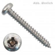 1000 Blechschrauben DIN 7981 - 4,8x13 mm - Linsenkopf - Pozidriv - Edelstahl A4