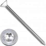 200 Blechschrauben DIN 7982 - 6,3x80mm - Senkkopf – TX30 - Edelstahl A2
