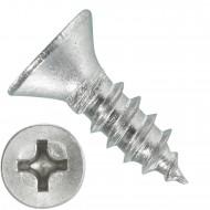 1000 Blechschrauben DIN 7982 - 2,2x6,5 mm - Senkkopf - Phillips - Edelstahl A4
