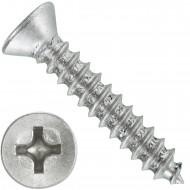 1000 Blechschrauben DIN 7982 - 2,9x16 mm - Senkkopf - Phillips - Edelstahl A4