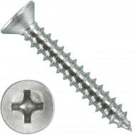 1000 Blechschrauben DIN 7982 - 2,9x19 mm - Senkkopf - Phillips - Edelstahl A4
