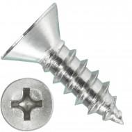 1000 Blechschrauben DIN 7982 - 2,9x9,5 mm - Senkkopf - Phillips - Edelstahl A4