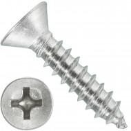 1000 Blechschrauben DIN 7982 - 3,5x16 mm - Senkkopf - Phillips - Edelstahl A4