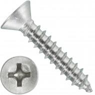 1000 Blechschrauben DIN 7982 - 3,5x19 mm - Senkkopf - Phillips - Edelstahl A4