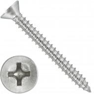 1000 Blechschrauben DIN 7982 - 3,5x32 mm - Senkkopf - Phillips - Edelstahl A4