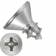 1000 Blechschrauben DIN 7982 - 3,5x6,5 mm - Senkkopf - Phillips - Edelstahl A4
