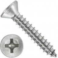 1000 Blechschrauben DIN 7982 - 3,9x22 mm - Senkkopf - Phillips - Edelstahl A4