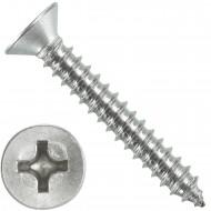 1000 Blechschrauben DIN 7982 - 3,9x25 mm - Senkkopf - Phillips - Edelstahl A4