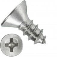 1000 Blechschrauben DIN 7982 - 3,9x9,5 mm - Senkkopf - Phillips - Edelstahl A4