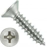 1000 Blechschrauben DIN 7982 - 4,2x19 mm - Senkkopf - Phillips - Edelstahl A4