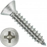 1000 Blechschrauben DIN 7982 - 4,2x22 mm - Senkkopf - Phillips - Edelstahl A4