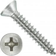 1000 Blechschrauben DIN 7982 - 4,2x25 mm - Senkkopf - Phillips - Edelstahl A4