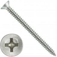 200 Blechschrauben DIN 7982 - 4,2x50 mm - Senkkopf - Phillips - Edelstahl A4