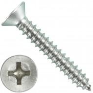 500 Blechschrauben DIN 7982 - 4,8x32 mm - Senkkopf - Phillips - Edelstahl A4