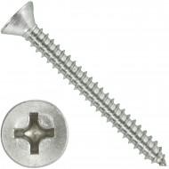 200 Blechschrauben DIN 7982 - 4,8x45 mm - Senkkopf - Phillips - Edelstahl A4