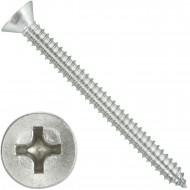 200 Blechschrauben DIN 7982 - 6,3x70 mm - Senkkopf - Phillips - Edelstahl A4
