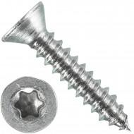 1000 Blechschrauben DIN 7982 - 2,2x13 mm - Senkkopf - Torx - Edelstahl A4