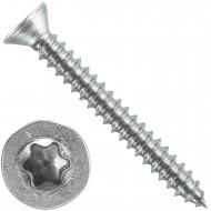 1000 Blechschrauben DIN 7982 - 2,2x19 mm - Senkkopf - Torx - Edelstahl A4