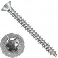1000 Blechschrauben DIN 7982 - 2,2x22 mm - Senkkopf - Torx - Edelstahl A4