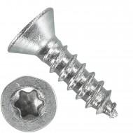 1000 Blechschrauben DIN 7982 - 2,2x9,5 mm - Senkkopf - Torx - Edelstahl A4