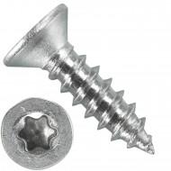 1000 Blechschrauben DIN 7982 - 2,9x13 mm - Senkkopf - Torx - Edelstahl A4