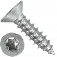 1000 Blechschrauben DIN 7982 - 2,9x9,5 mm - Senkkopf - Torx - Edelstahl A4