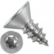 1000 Blechschrauben DIN 7982 - 4,8x13 mm - Senkkopf - Torx - Edelstahl A4