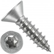 1000 Blechschrauben DIN 7982 - 4,8x19 mm - Senkkopf - Torx - Edelstahl A4