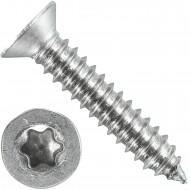 200 Blechschrauben DIN 7982 - 6,3x32 mm - Senkkopf - Torx - Edelstahl A4