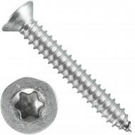 200 Blechschrauben DIN 7982 - 6,3x45 mm - Senkkopf - Torx - Edelstahl A4