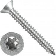 200 Blechschrauben DIN 7982 - 6,3x50 mm - Senkkopf - Torx - Edelstahl A4
