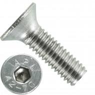 1000 Senkschrauben M 3 x 10 mm  - ISO 10642 - Innensechskant - Edelstahl A2
