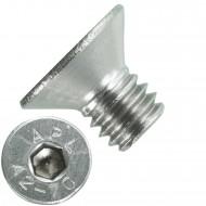 1000 Senkschrauben M 4 x 6 mm  - ISO 10642 - Innensechskant - Edelstahl A2