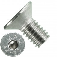 1000 Senkschrauben M 4 x 8 mm  - ISO 10642 - Innensechskant - Edelstahl A2