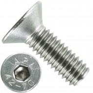 1000 Senkschrauben M 4 x 12 mm  - ISO 10642 - Innensechskant - Edelstahl A2