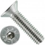 1000 Senkschrauben M 4 x 16 mm  - ISO 10642 - Innensechskant - Edelstahl A2