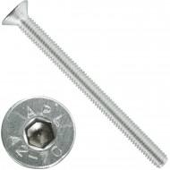 200 Senkschrauben M 4 x 50 mm  - ISO 10642 - Innensechskant - Edelstahl A2