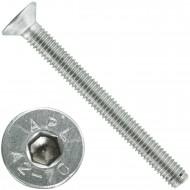 100 Senkschrauben M 4 x 60 mm  - ISO 10642 - Innensechskant - Edelstahl A2