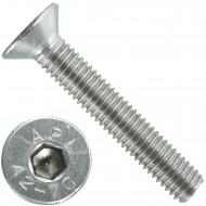 200 Senkschrauben M 5 x 30 mm  - ISO 10642 - Innensechskant - Edelstahl A2