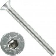 200 Senkschrauben M 5 x 50 mm  - ISO 10642 - Innensechskant - Edelstahl A2